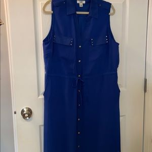 Cato 18/20W royal blue dress